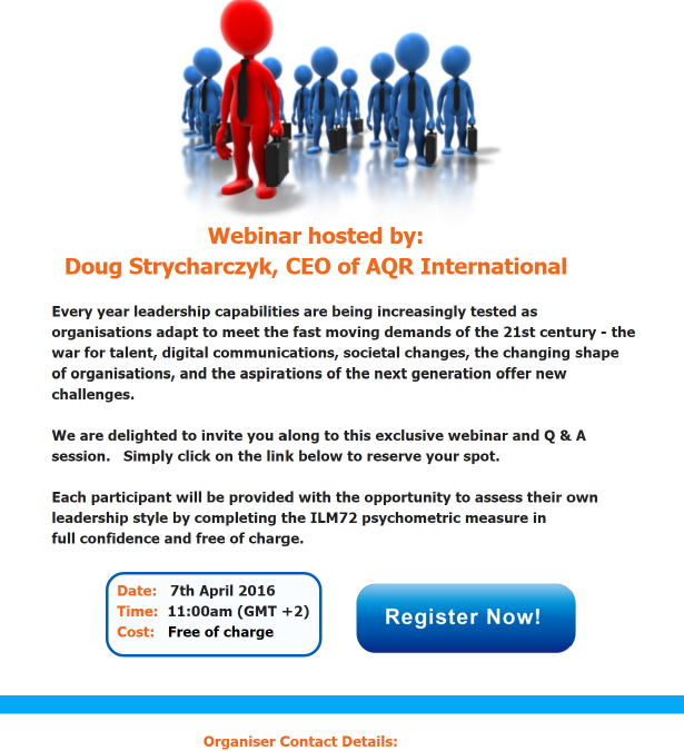 FREE WEBINAR How is Leadership changing in the 21st Century?