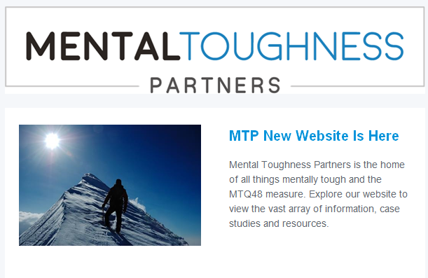 New Website Launched – Mental Toughness Partners