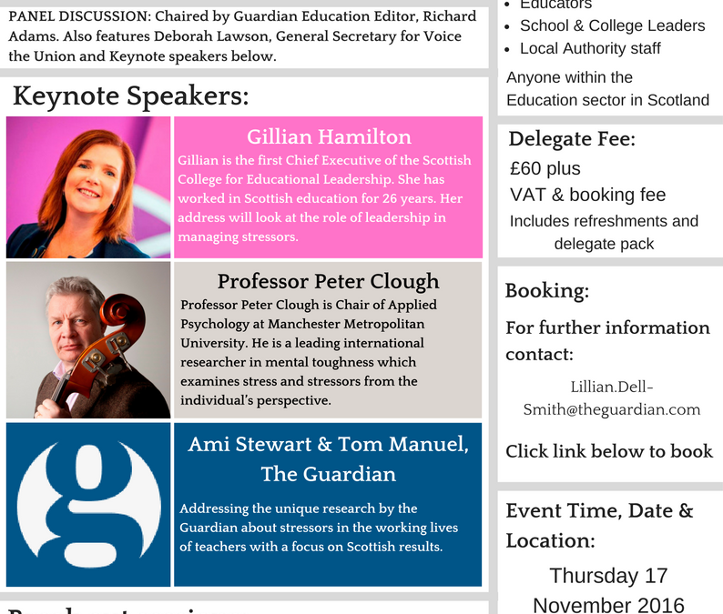AQR & Guardian Jobs present Beyond the Timetable – Managing Stress in Schools.