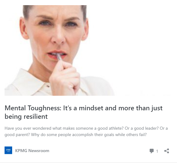 Mental Toughness: It's a mindset and more than just being resilient