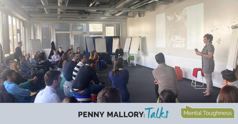 Penny Mallory talking Mental Toughness at Airbus, Munich